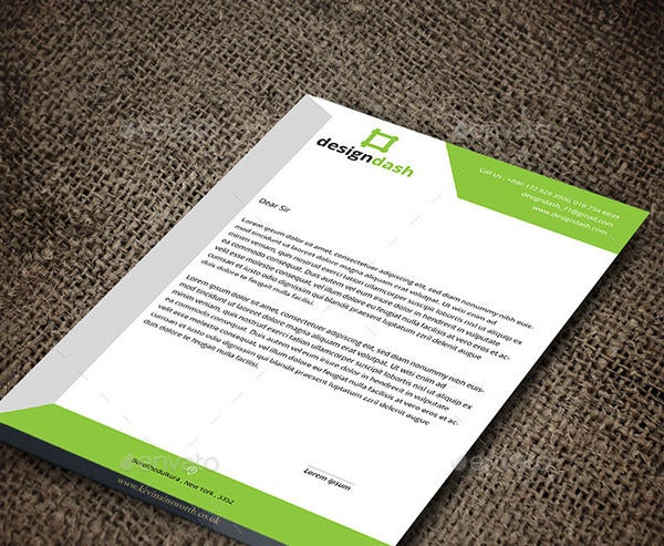 Psd letterhead template 51 free psd format download free corporate letterhead design template spiritdancerdesigns Gallery