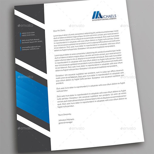 free photoshop business letterhead template document