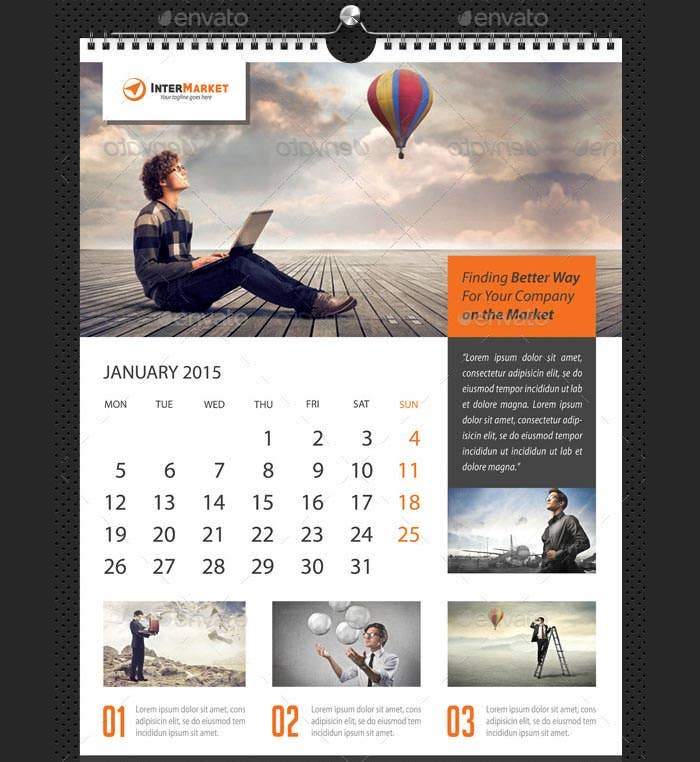 Wall Calendar Design Templates : Best business calendar templates samples free