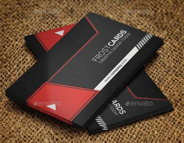 creative business card template no