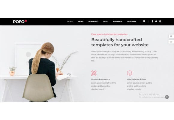 creative portfolio and blog wordpress theme