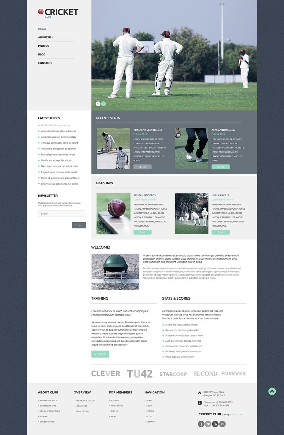 cricket wordpress theme