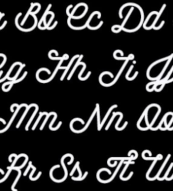 cursive script font1