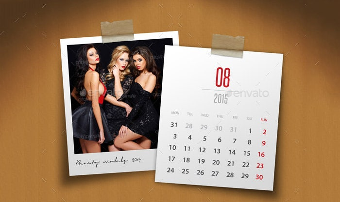 customizable calendar 2015 photo frame v04