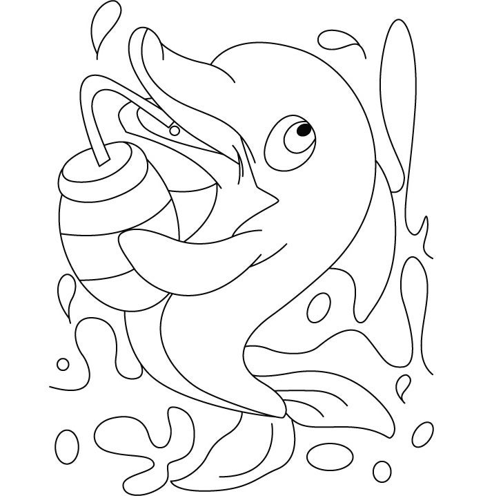 cute baby dolphin coloring page