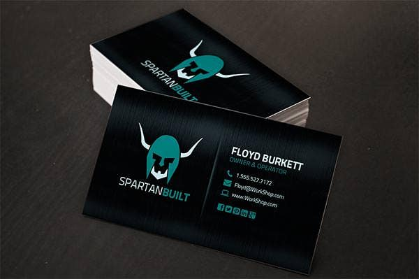 dark metal business card template