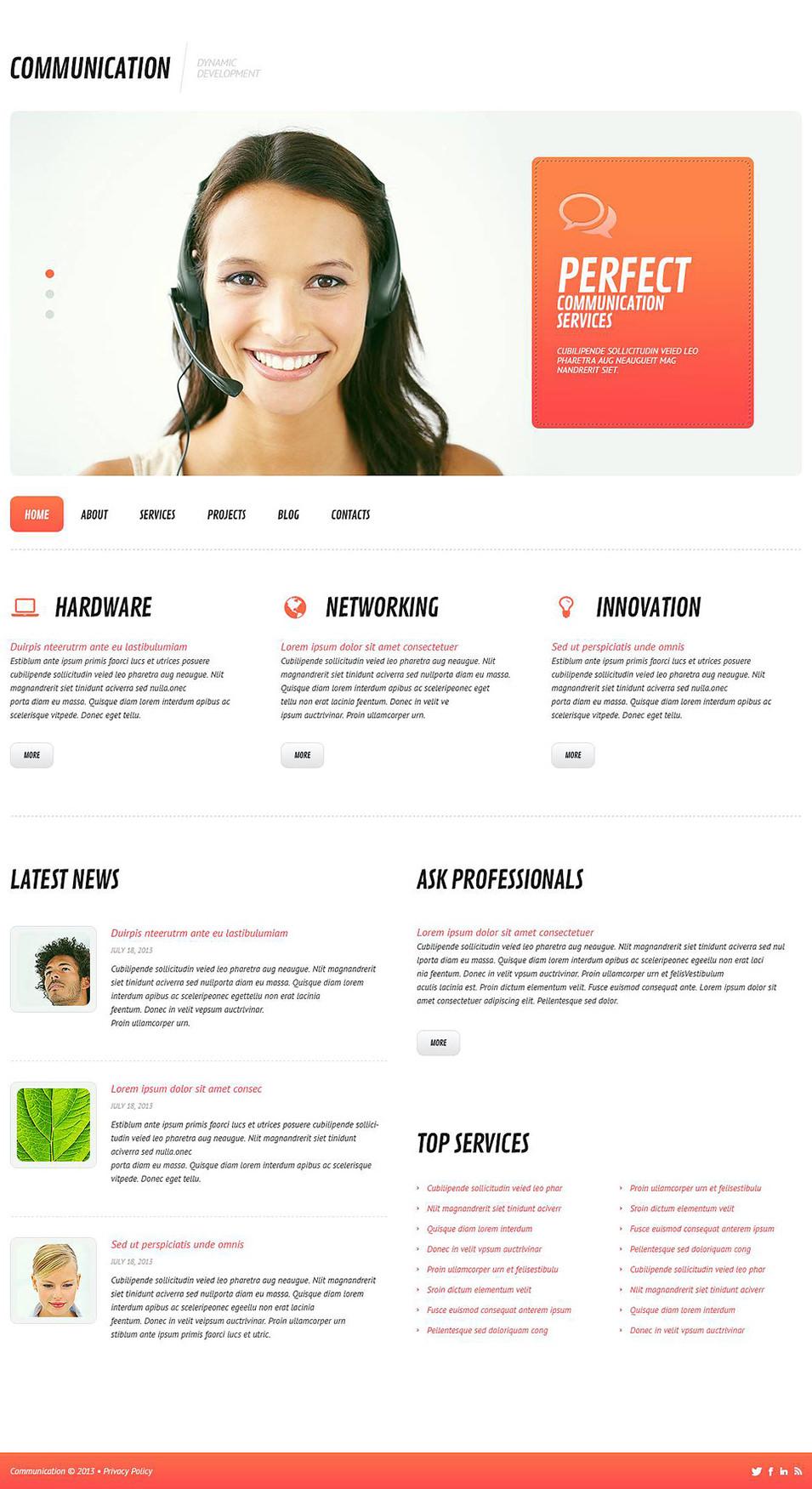 Development Project WordPress Theme