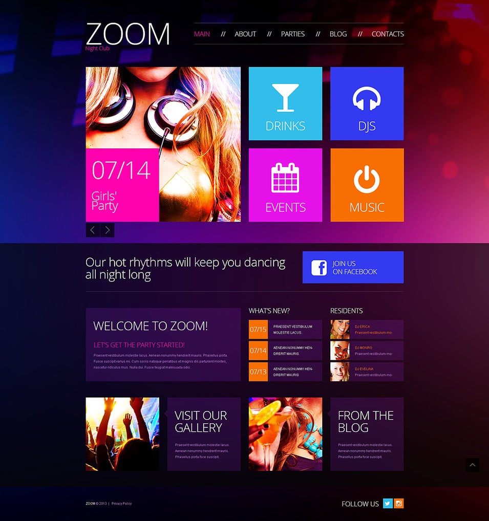 disco club wordpress theme1