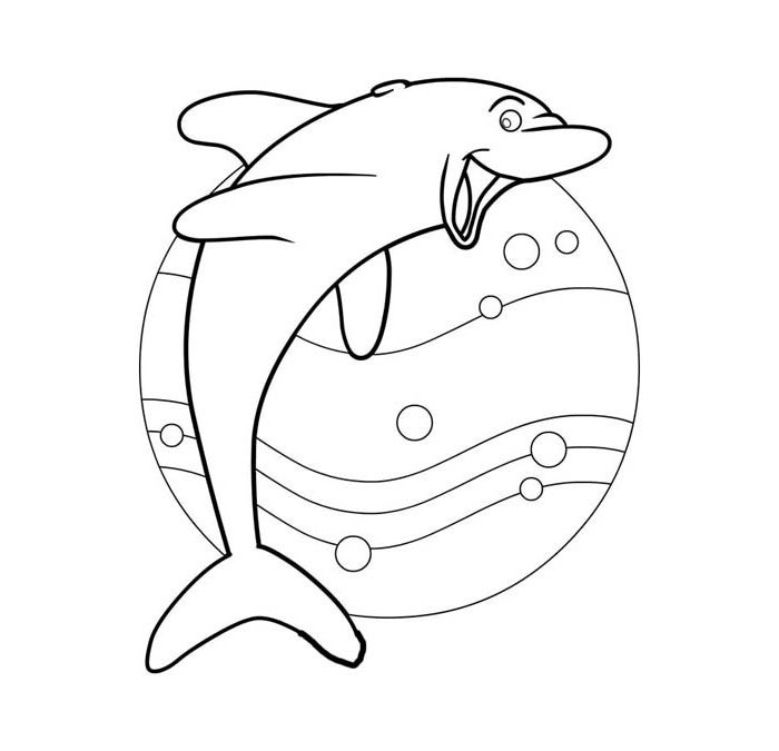 dolphin template to print