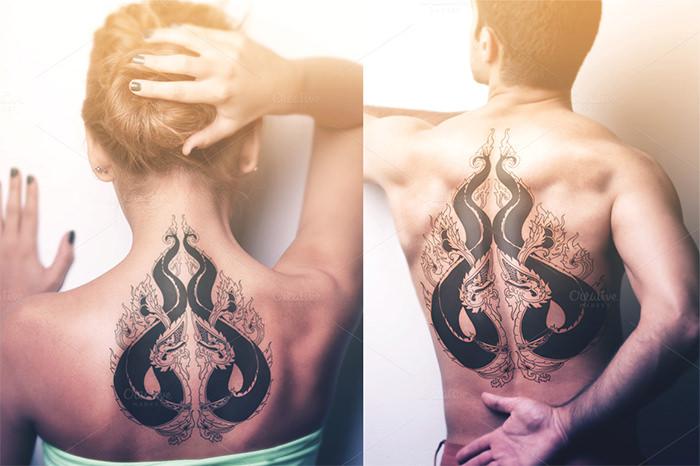 double naga serpent tattoo