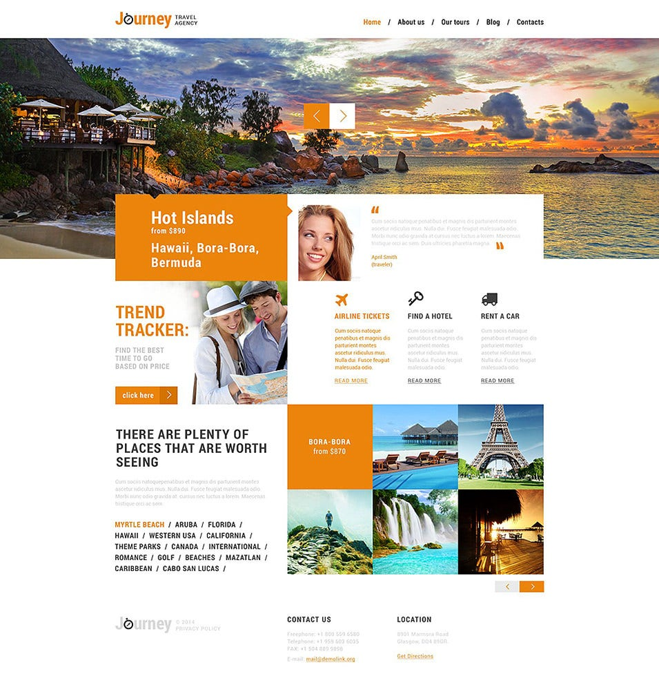 dream travel club wordpress theme