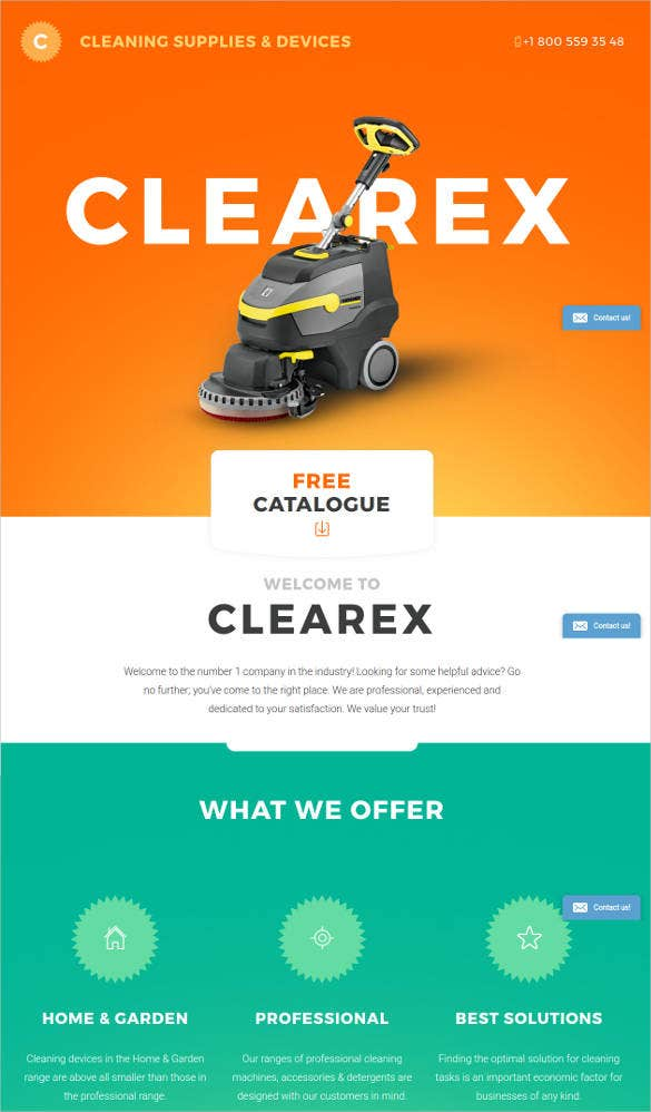 dynamic-cleaning-products-landing-page-template