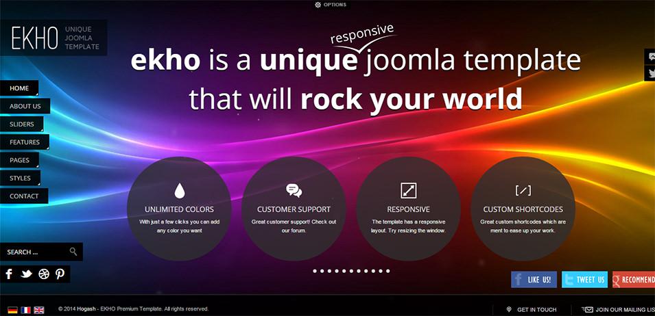 Responsive Fullscreen Joomla Template