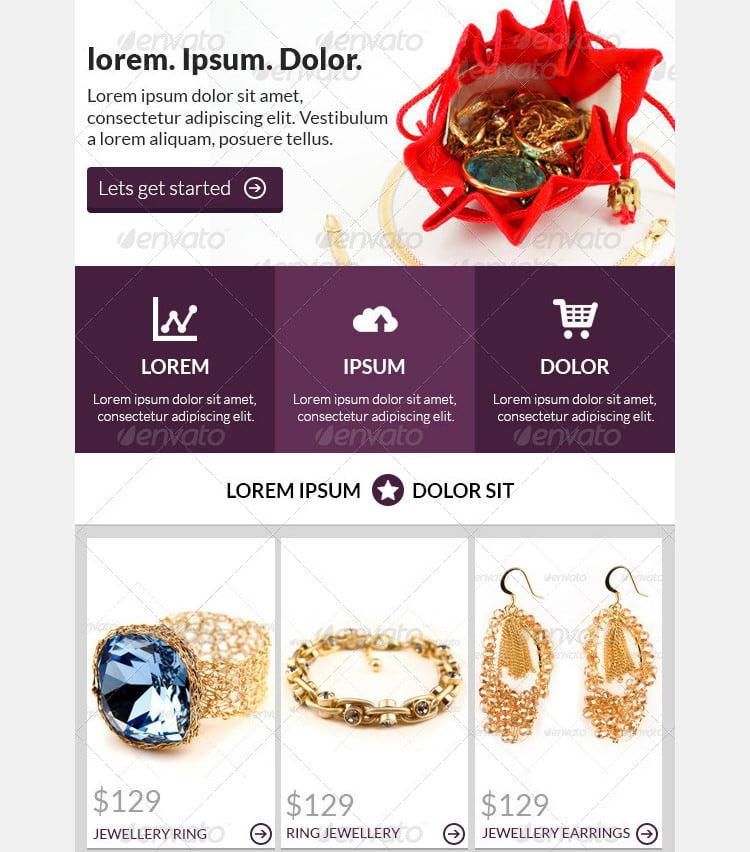 ecommerce newsletter template