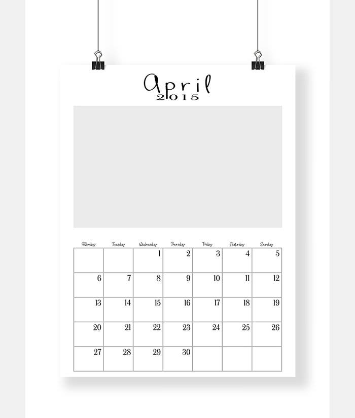 Sample Editable 2015 Calendar Templates