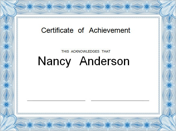 Word certificate template 44 free download samples examples this is yet another certificate of achievement certificate sample which you could opt for and customize this template has been designed and is available yadclub Image collections