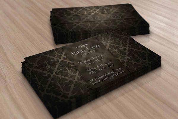elegant brown vintage business card template