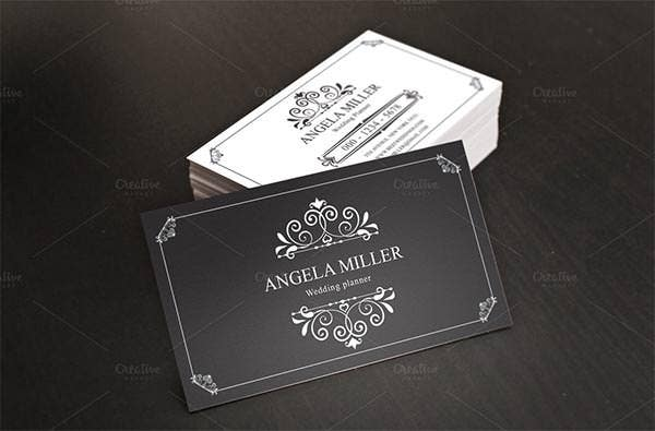 21 best vintage style business cards free premium templates elegant vintage business card wajeb Images