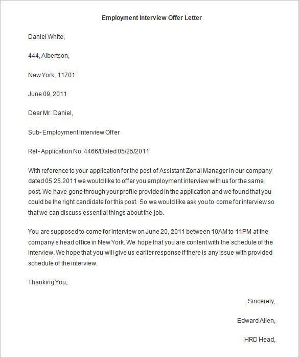 31 Offer Letter Templates Free Word Pdf Format