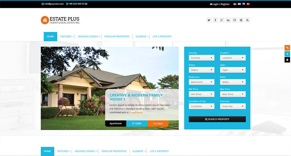 Responsive Real Estate WP Theme