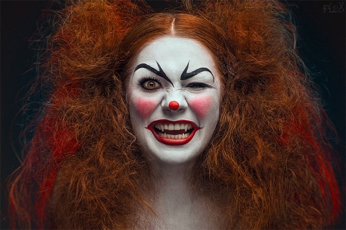 excellent clown halloween photography