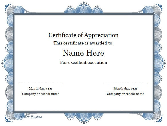 This is a certificate template to award the excellence. It can work ...