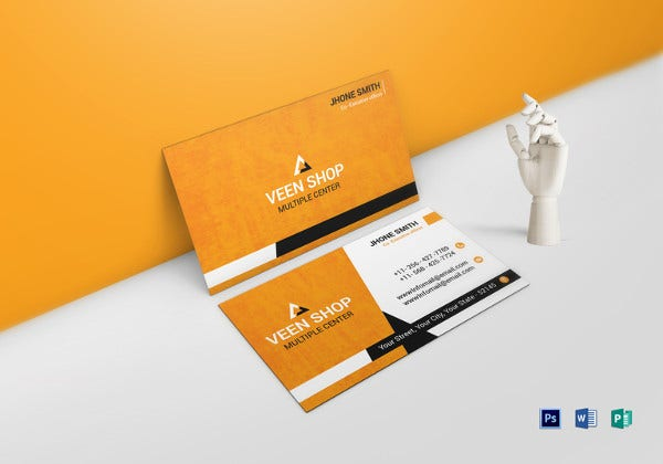 executive business card ms word template