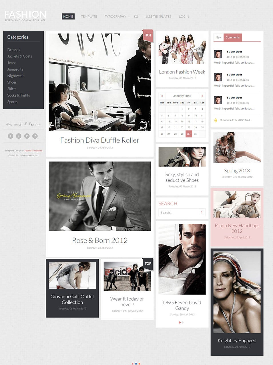 fashion style joomla template