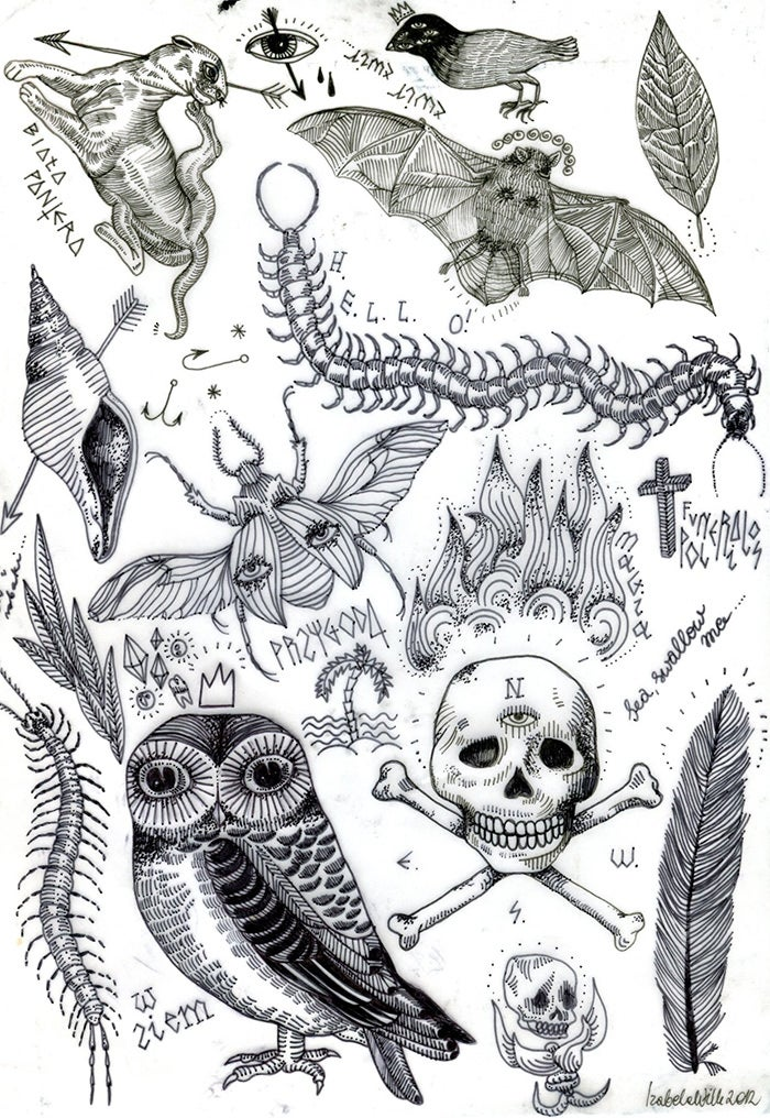 flash sheet tattoo designs