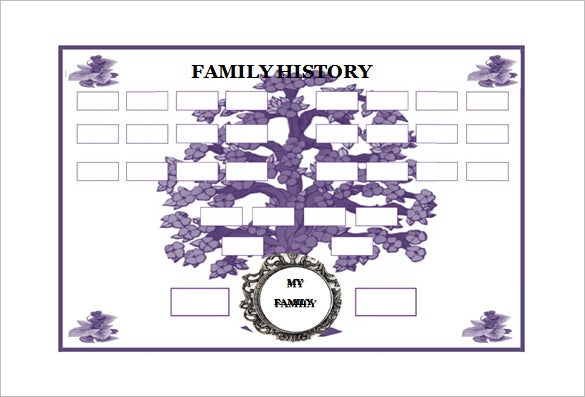 33 genogram templates pdf doc psd free premium for Family history genogram template