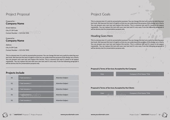 financial business proposal template