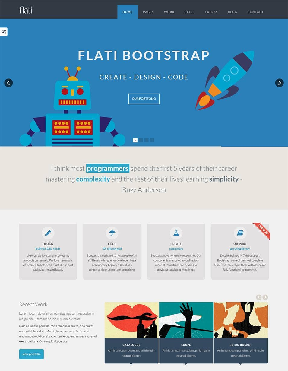 free bootstrap website templates - 35 best bootstrap design templates themes free