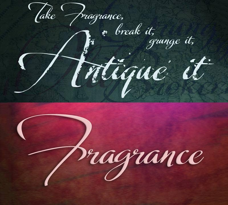 fragrance wedding font