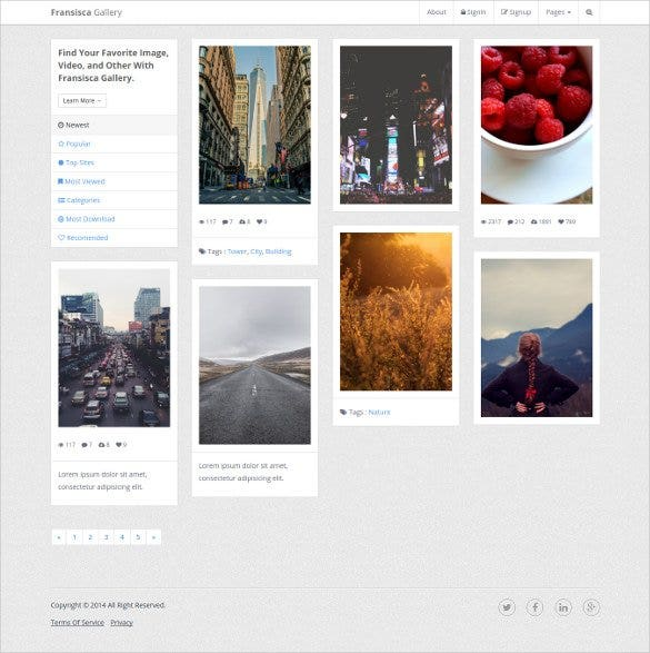 fransisca gallery bootstrap template 1
