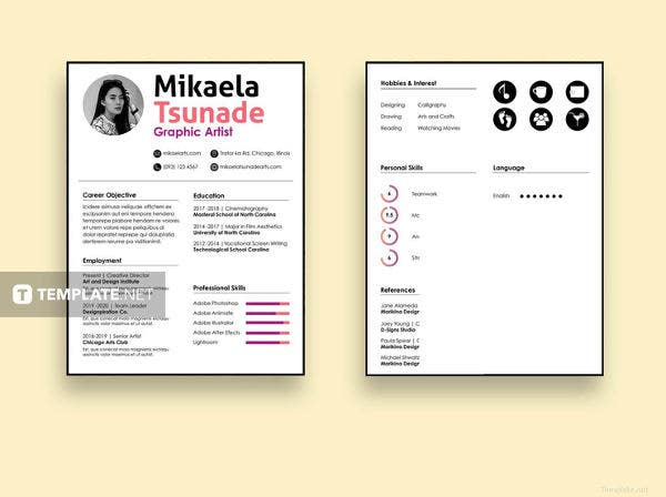 free 2 pages resume template1