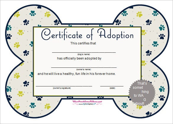 free adoption word certificate template