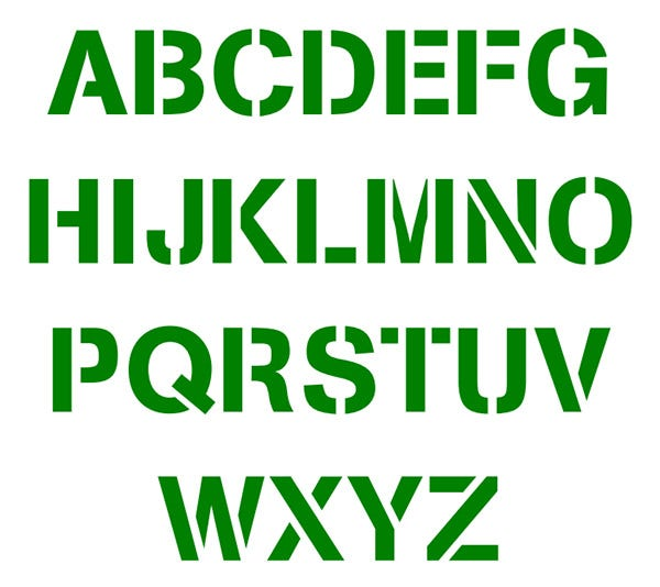free alphabet stencils for printable