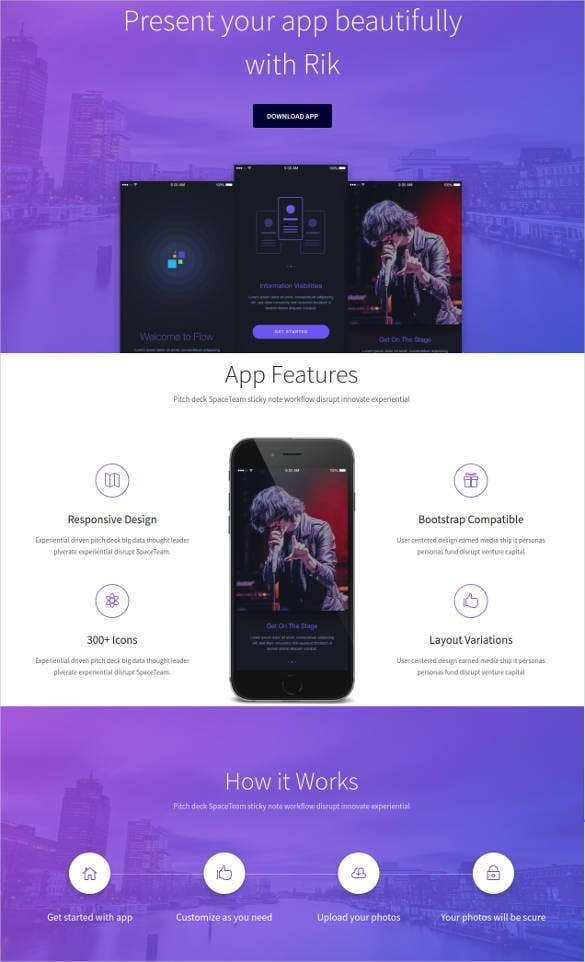 free bootstrap app landing page template1