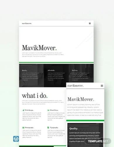 free developer portfolio wordpress theme