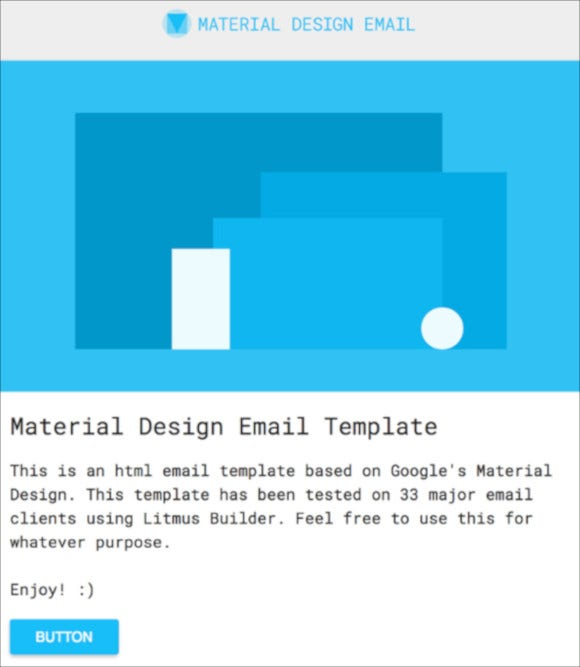 free html email template design