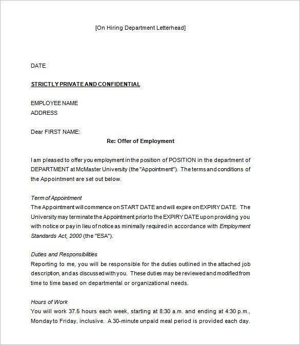 Job appointment letter solarfm 7 sample job appointment letters sample templates spiritdancerdesigns Image collections