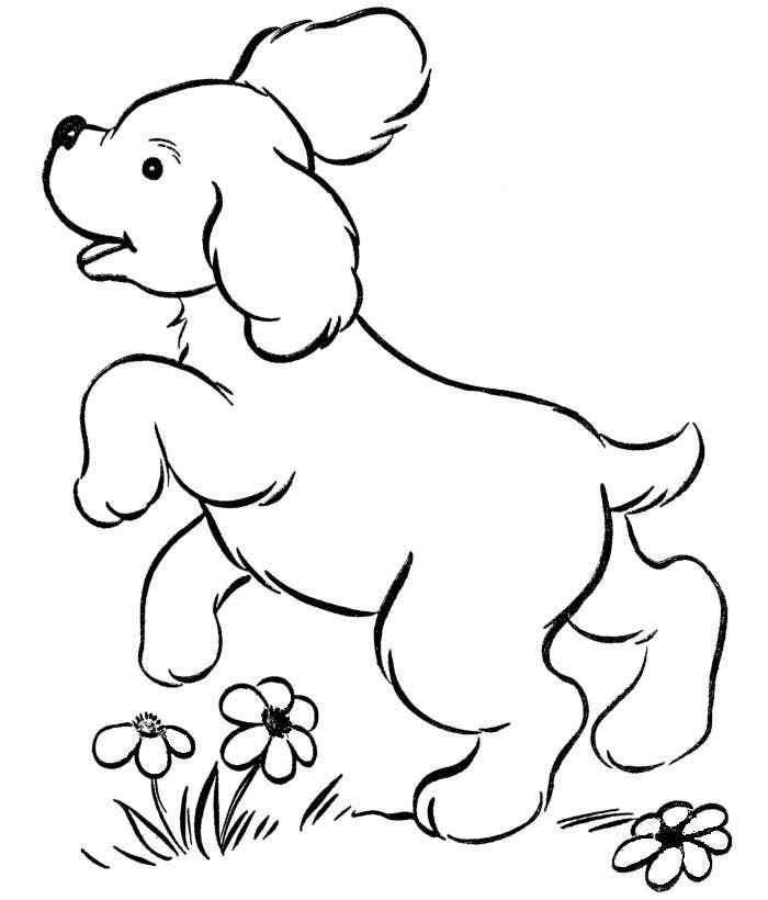 free printable dog template