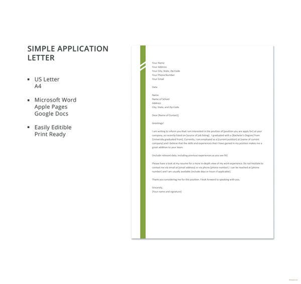 basic covering letter templates