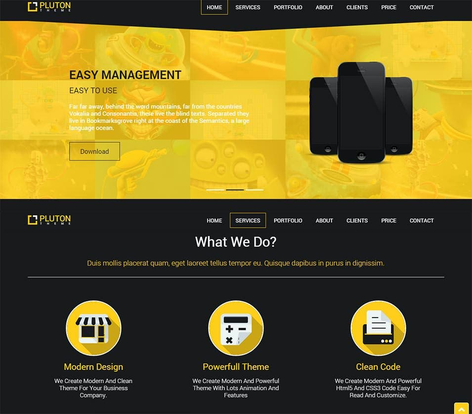 free single page bootstrap html template