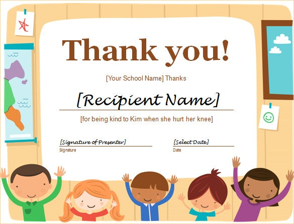 free thank you certificate template in word format