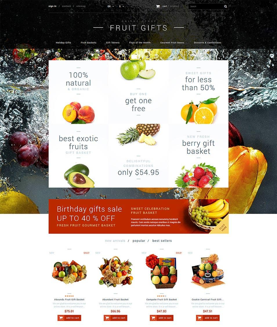 fruit gifts store prestashop theme1