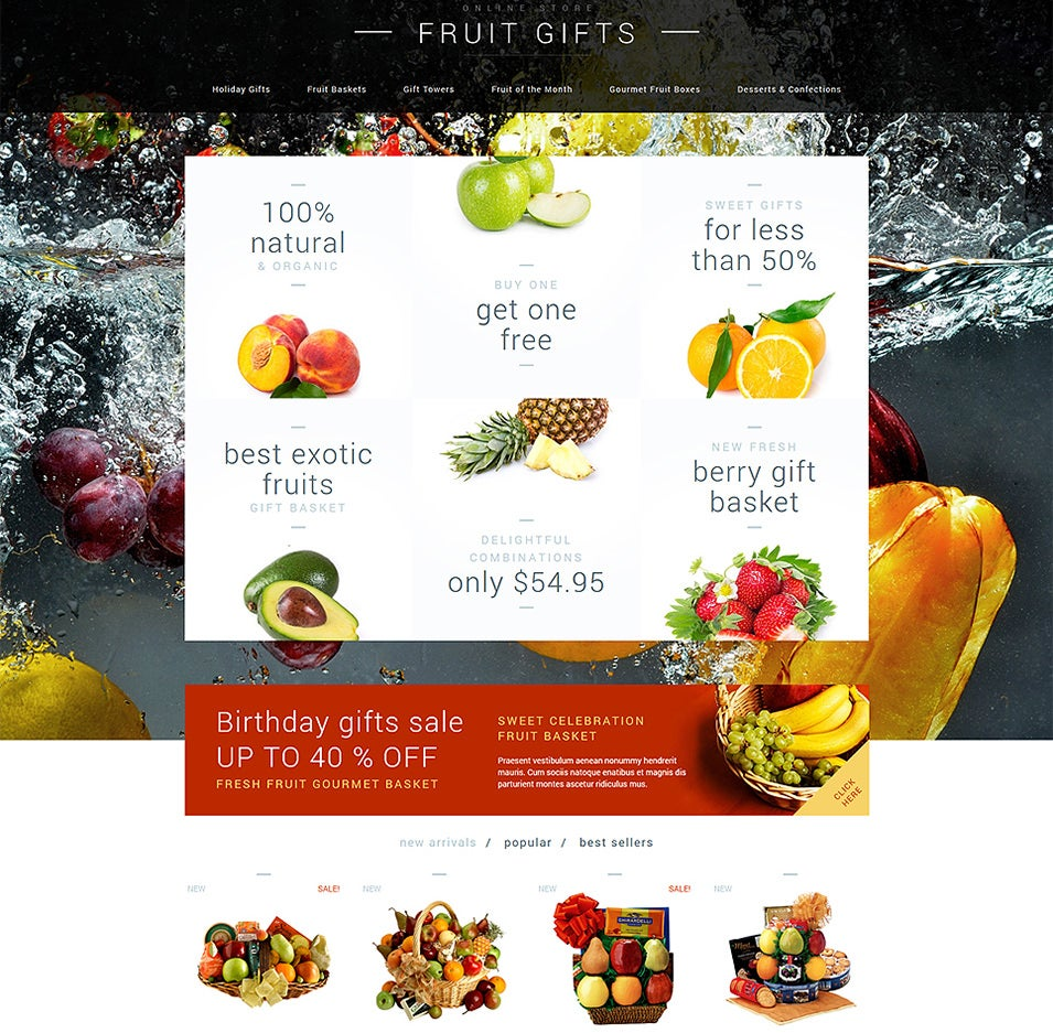 fruit gifts store prestashop theme2