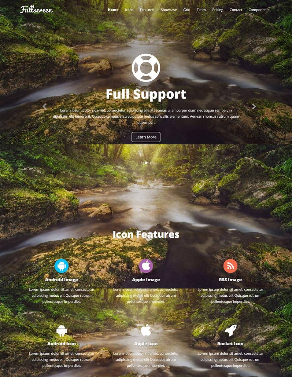 fullscreen responsive template
