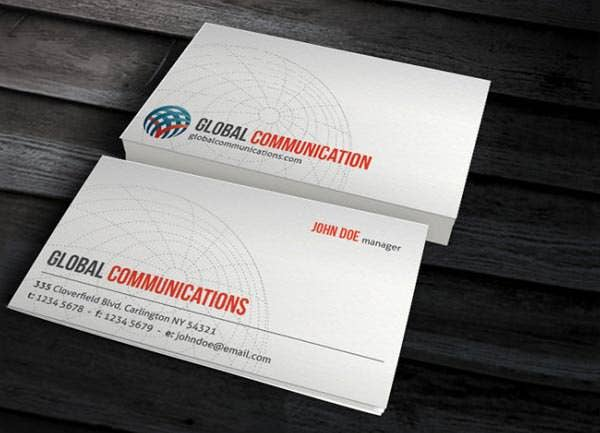 globe corporate business card template