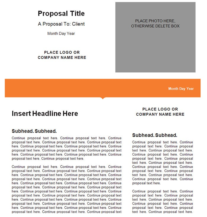 Generic Business Marketing Proposal Template. Free Download